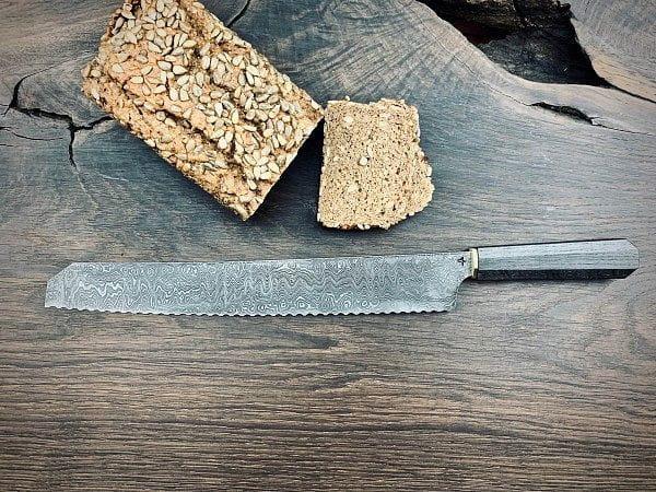 YVO9-D Brotmesser - Damast